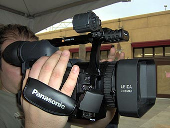 panasonic AG-HVX200 camcorder at resfest 2005 LA